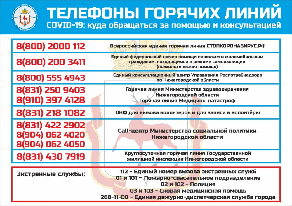 Телефоны горячей линии